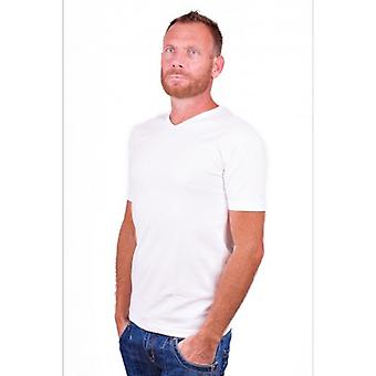 Alan Red T-Shirt Oklahoma White (two pack) (stretch) Extra Long