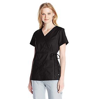 KOI Women's Katelyn Easy-fit موك-التفاف فرك الأعلى مع ربطة عنق جانبية قابلة للتعديل, Bl ...