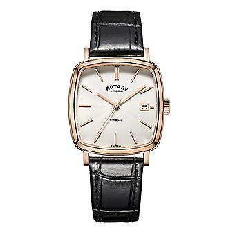 Rotary GS05309-01 Hombres's Windsor Cojín Reloj de pulsera