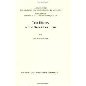 Text History of the Greek Leviticus by John W. Wevers - 9783525824405