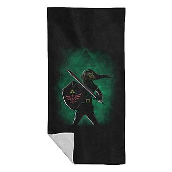 The Triforce Legend Of Zelda Attack Beach Towel