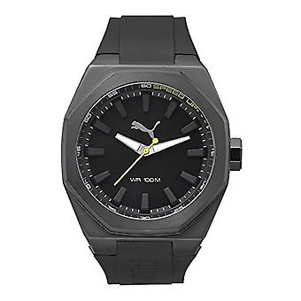 Cougar Time Victory wrist watch, analog, Black plastic band