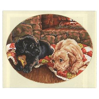 Kit Alisa Cross Stitch - Cães Sonolentos