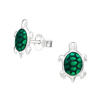 Turtle - Epoxy Colour + 925 Sterling Silver Colourful Ear Studs - W13225x
