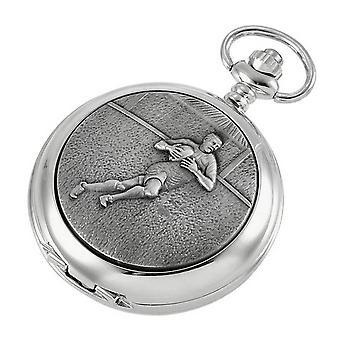 Woodford Rugby skelett kedja Pocket Watch - Silver