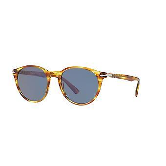 Persol PO3152S 9043/56 Striped Brown Yellow/Blue Sunglasses