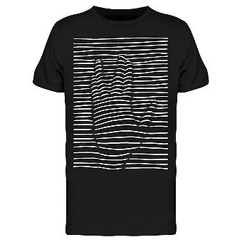 Hand Silhouette On Lines Men's T-shirt
