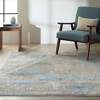 Calvin Klein Rush Designer Abstract Rugs Ck951 Blue Beige