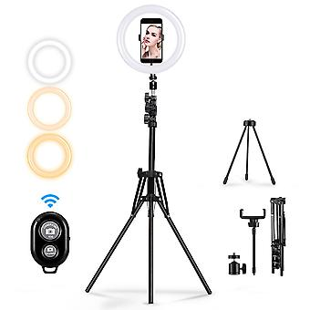 Mohoo 160cm 10 inch 3 color modes 10 brightness levels usb video light tripod stand for tik tok youtube live streaming