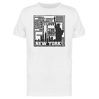 New York Statue Baseball Bronx T-Shirt Herren-Bild von Shutterstock