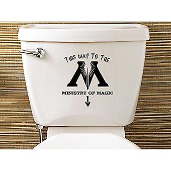 GNG Vinyl Decal Potter Inspired Ministry Of Magic Toilet Decal Sticker