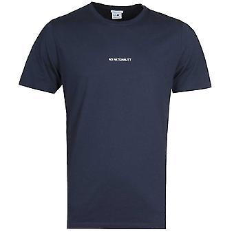 NN07 Ethan 3208 No Nationality Print Navy T-Shirt