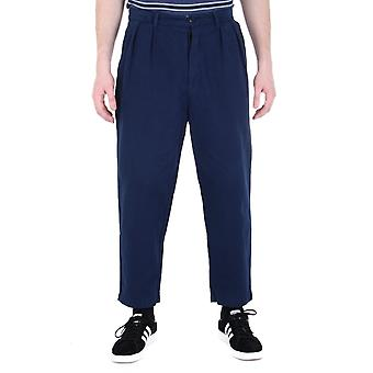 Albam Navy pieghe pantaloni