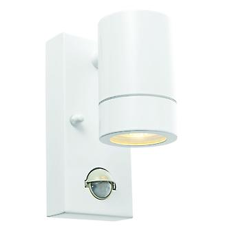 Saxby Lighting Palin PIR Down Wall Light IP44 In White