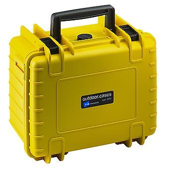 B&W Outdoor Case Typ 2000, Würfelschaum, Gelb
