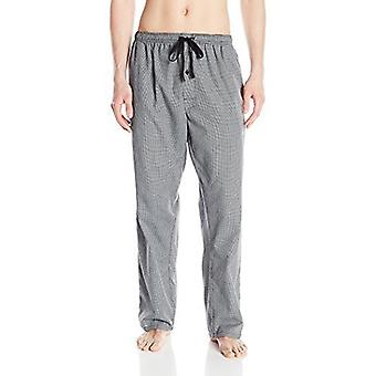 Hanes Men's Woven Pajama Pant, Black Houndstooth, Small