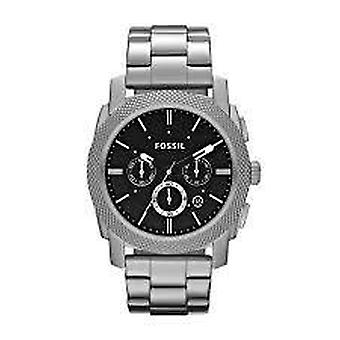 Fossil FS4776 Machine Chronograph Black Dial Stainless Steel Men's Watch