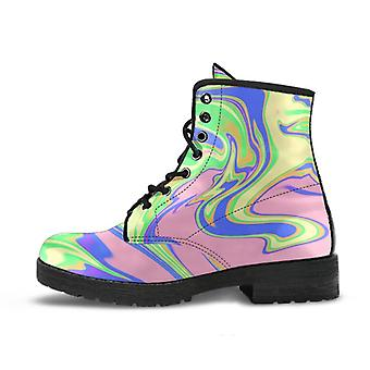 Stylish Boots | Colorful Marble Art