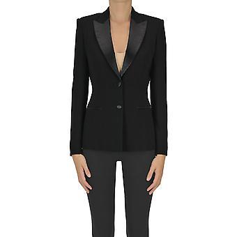 Max Mara Ezgl13707 Women's Black Acetate Blazer