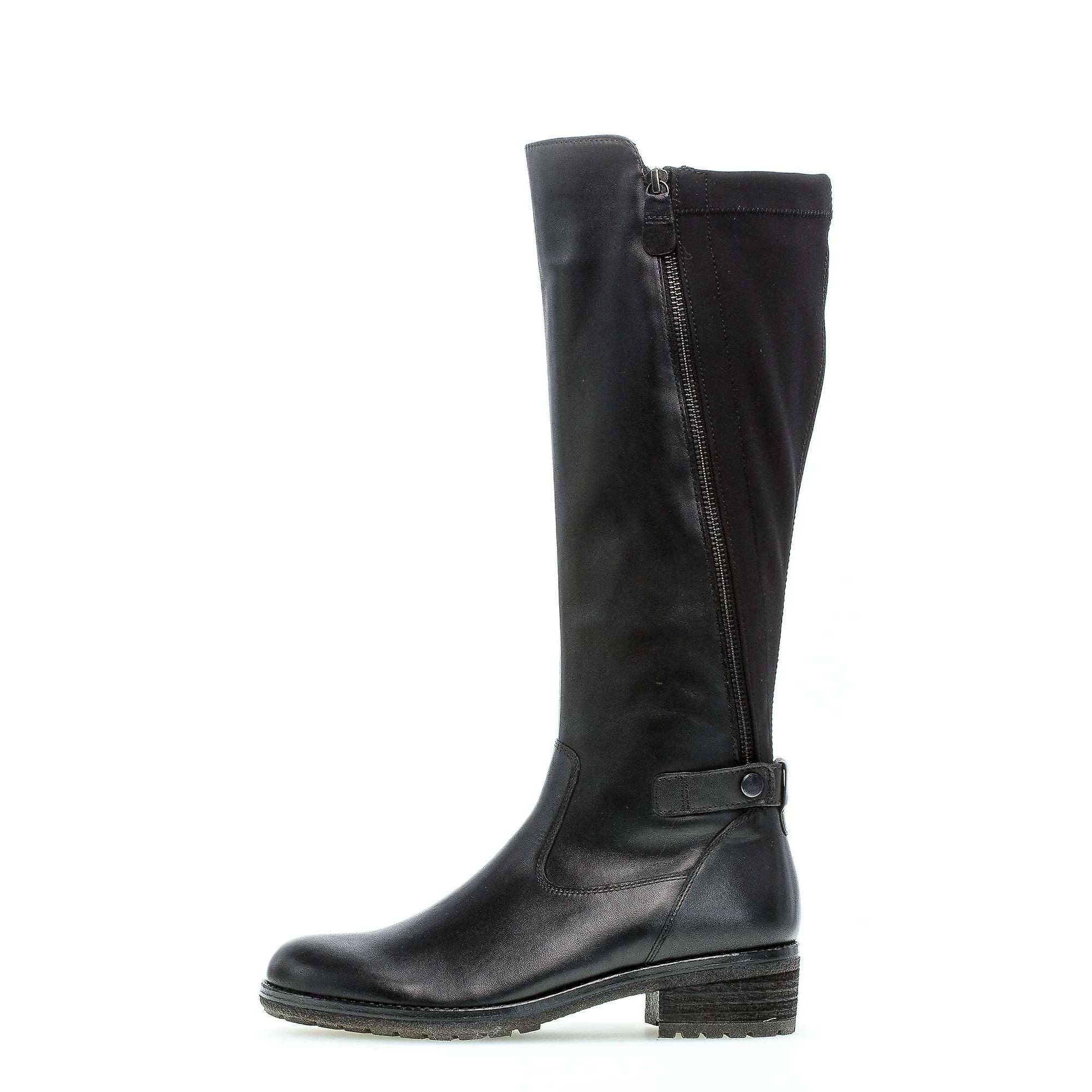 Gabor foulardcalfdankael schwarz boots womens black 002