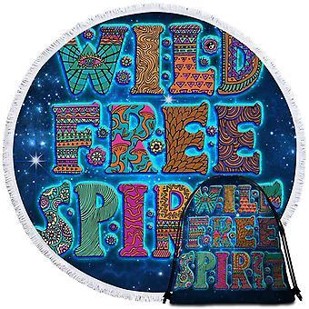 Space background Wild Free Spirit ranta pyyhe