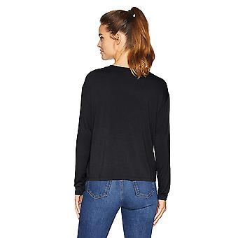 طقوس يومية Women & apos;s Jersey طويلة الأكمام صندوقي الجيب تي, أسود, كبيرة