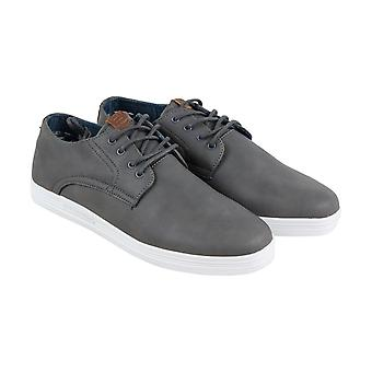 Ben Sherman Preston  Mens Gray Canvas Lace Up Lifestyle Sneakers Shoes