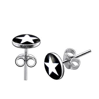 Stjerne logo sølv ørering