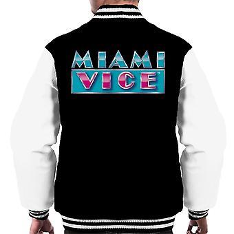 Miami Vice reflecterende logo mannen ' s Varsity Jacket