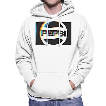 Pepsi 80s Glitch Logo Men's Hooded Sweatshirt