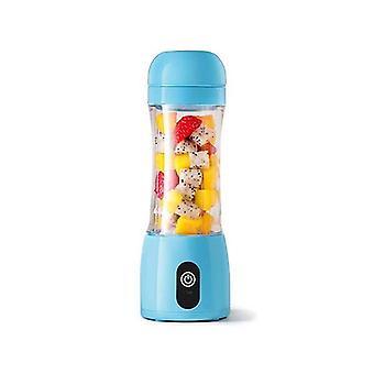 Soga 380Ml Portable Mini Usb Rechargeable Fruit Mixer Juicer Blue