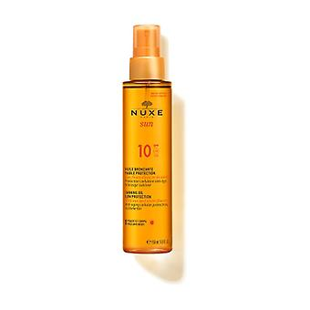 Nuxe Sun - Tanning Oil for Face and Body Low Protection SPF10 150 ml of oil