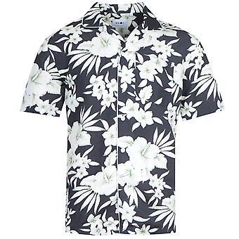 NN07 5030 Paris Floral Black Short Sleeve Shirt