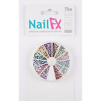 The edge nail art gems roundstone wheel