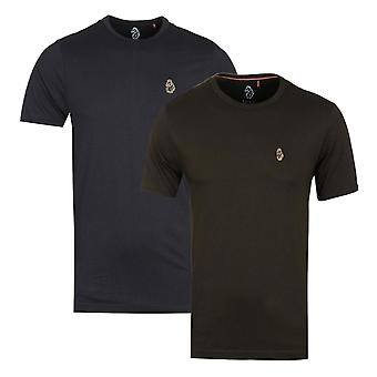 Luke 1977 Zwart en Khaki T-shirt 2 Pack