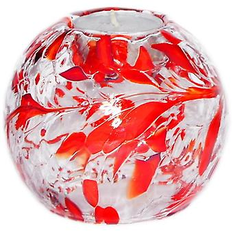 Round Globe Tealight Holder - Ruby by Milford Collection