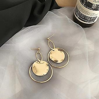 Boucles d'oreilles Gold Ancient Round Drop