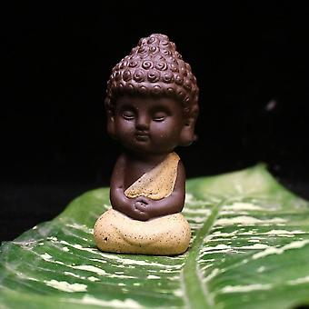 Small Buddha, Ceramic Statue - Monk Figurine
