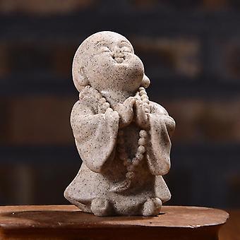 Monk Adorable Buddha Sandstone Statue