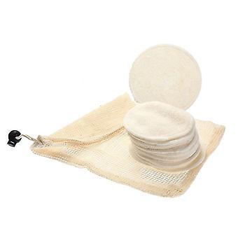 12pcs Reusable Cotton Make Up Facial Remover Bamboo Fiber Facial Skin Care Nursing Pads - Makeup Remover Pads