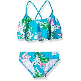 Kanu Surf Big Girls' Alania Flounce Bikini Beach Sport 2-Piece Swimsuit, Flor...