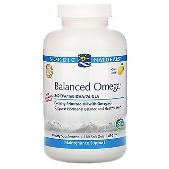 Nordic Naturals, Balanced Omega, Lemon , 830 mg, 180 Softgels