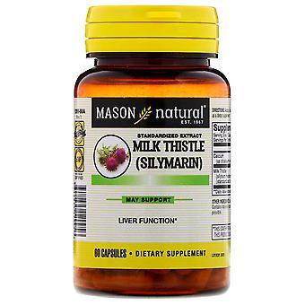 Mason natural milk thistle (silymarin) liver cleanser, capsules, 60 ea *