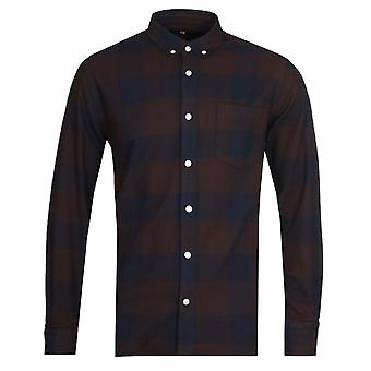 Armor Lux Chemise Brown Check Shirt