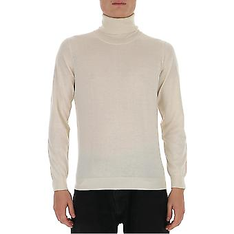 Laneus S2302cc27wht Men's White Silk Sweater