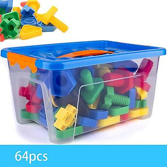 Screw Touch Pair Building Blocks Early Education Shape Educational Toy