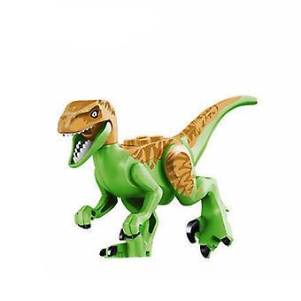 Blokker Jurassic Dinosaurer Tyrannosaurus Rex Wyvern Velociraptor Stegosaurus Kits Leker For Barn