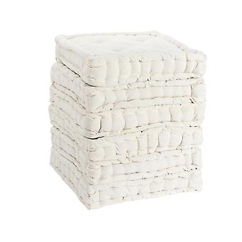 Nicola Spring Square Gewatteerde Franse matras dinerstoel kussen stoelpad - Crème - Pack van 12