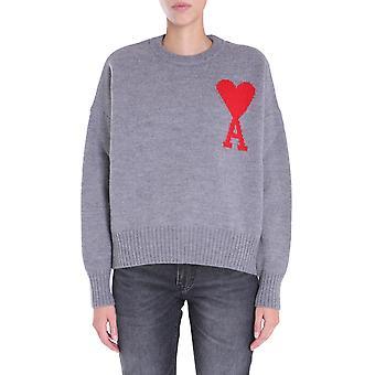 Ami H20fk009018055 Damen's Grau Wolle Pullover