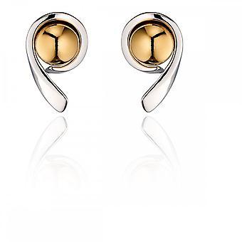 Fiorelli Silver Ribbon Ball Stud Earrings E5451